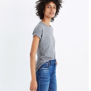 Madewell Medium Whisper Cotton Crew Neck Tee Grey